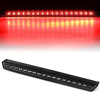 Black Housing Full LED 3rd Third Tail Brake Light Lamp Black for Chevy Suburban Tahoe 15-20