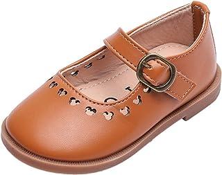 Zapatos de Cuero para niños cómodos Antideslizantes Suela Suave Zapatos Casuales de Princesa Zapatos Planos de Baile para ...