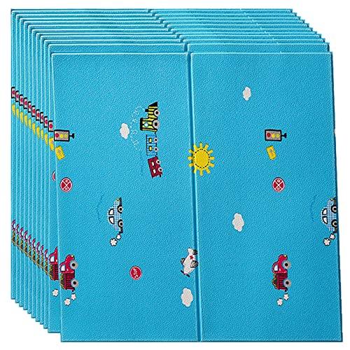 GL-GDD Paquete de 10 Paneles de Pared para pelar y Pegar Azulejos autoadhesivos para Bricolaje Papel Tapiz Impermeable anticolisión para cabecera de Dormitorio (52,7 pies Cuadrados),19