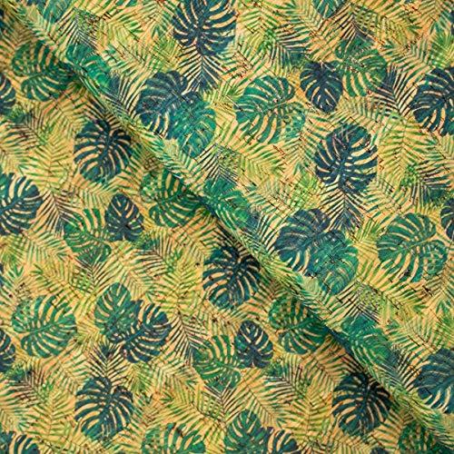 The Cork Collection - cork fabric - Cork Fabrics - Palm and Areca Palm leafs pattern Cork Fabric COF-244 - 1/4M(50*68 cm/ 19*27 inches)