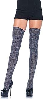 Leg Avenue Women's Heather Rib Knit Thigh Highs