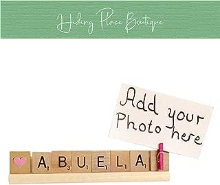 Abuela Photo Holder - Love Abuela, Abuela Gift, Grandma, Abuela, Grammy, Mothers Day, Christmas, Christmas Photo, Christmas Frame