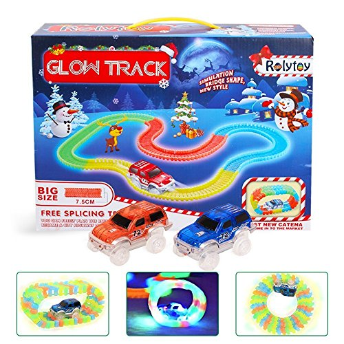 DNYCF Magic Glow Track Circuit Flexible (3.57 mètres) Jouet DIY Construction...