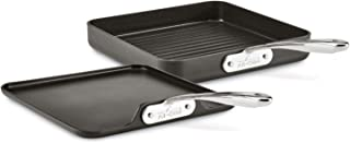 All-Clad Essentials Grill and Griddle Set, 11 In, Grey