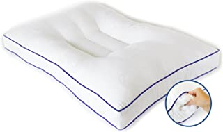 Nature's Guest Support Pillow-Fully Adjustable, Doctor Recommended Contour Design-Helps Reduce Neck Pain, Improve Cervical Health-Hypoallergenic, for Back and Side S, Standard/Queen White