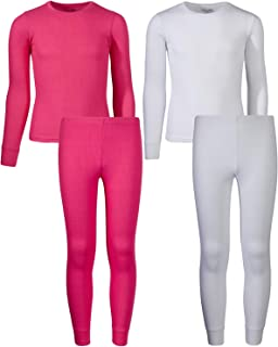 Rene Rofe Girl Waffle Thermal Underwear Top and Pant Set (2 Full Sets)