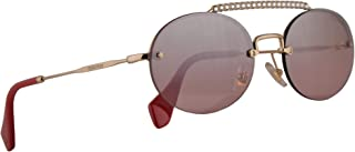Miu Miu MU60TS Sunglasses Pale Gold w/Pink Mirror Silver Gradient 54mm Lens ZVN095 MU 60TS SMU 60TS SMU60T