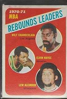 1970-71 Topps Wilt Chamberlain/Elvin Hayes/Lew Alcindor Rebounds Leaders Basketball Card #142