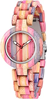 Inverted Geometric Wood Watch Creative Quartz Watch for Men Hand-Made Wooden Watches