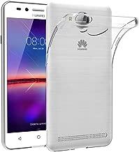 Case for Huawei Y3 II (4.5 inch) MaiJin Soft TPU Rubber Gel Bumper Transparent Back Cover