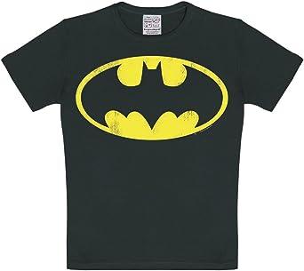 Logoshirt Camiseta para niño Batman Logotipo, DC Comics - Batman Logo - Camiseta con Cuello Redondo Negro - Diseño Original con Licencia