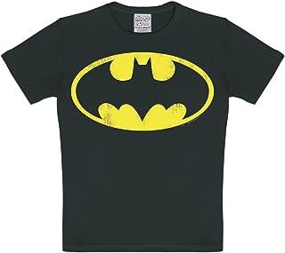 Logoshirt Camiseta para niño Batman Logotipo, DC Comics - Batman Logo - Camiseta con Cuello Redondo Negro - Diseño Origina...