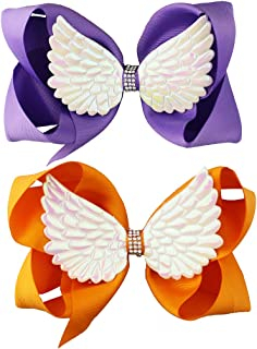 Hair Bow Clips with Wing Angels Wings Baby Girls Bowknot Hair Pins Barrettes JBC05