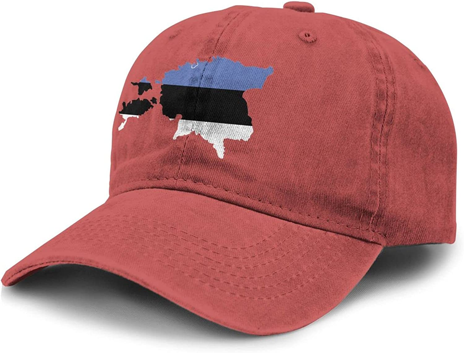 PARKNOTES Estonia Map Country of Europe Cheap and Durable Adult Cowboy Hat Unisex