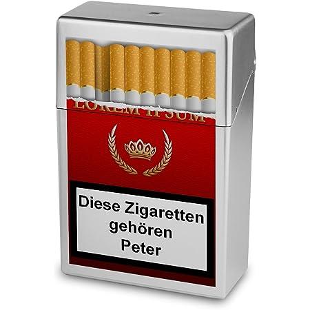 Zigarettenetui Personalisierte H/ülle mit Design Keep Calm Zigarettenschachtel Zigarettenbox mit Namen Hasi Kunststoffbox