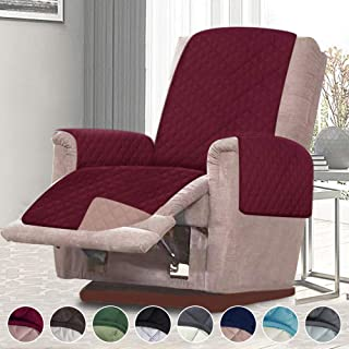 RHF Reversible Oversized Recliner Cover&Oversized Recliner Chair Covers,Slipcovers for Recliner, Oversized Chair Covers,Pet Cover for Recliner,Machine Washable(XRecliner: Merlot/Tan)