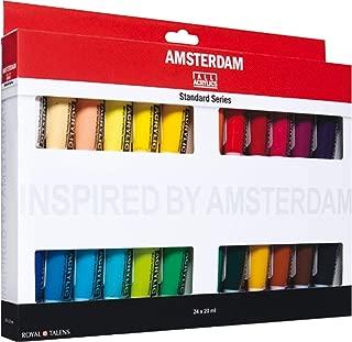Royal Talens Amsterdam Acrylic Standard Tubes, 20ml-Tubes, Set of 24 (100516105)