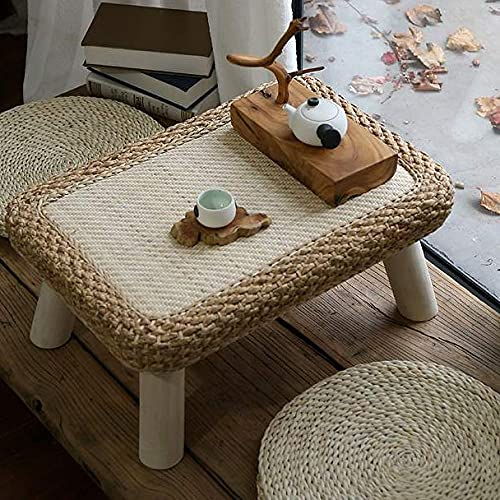 XLEVE Ratán Mirador pequeña Mesa de Centro Moderna Simple Tabla de Tatami japonés casa de Estilo Mesa Baja Rectangular pequeña Mesa de té (Color : B)