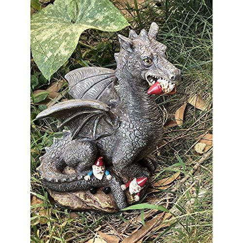 Garden Gnome Massacre, Gnomes Garden Art Figurine, Eating Gnomes Garden Decor, Funny Gift Garden Sculpture for Outdoor Home Yard Decor