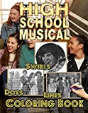 High School Musical Dots Lines Swirls Coloring Book: High School Musical Impressive Swirls-Dots-Diagonal Activity Books For Kid And Adult