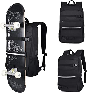 Sport Bag Laptop Skateboard Backpack Water Resistant 15.6 Inch