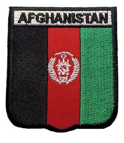b2see Bügel Flagge Fahne Afghanistan Kabul Aufnäher Patch Aufbügler Applikation Stickerei Flaggen zum auf-bügeln auf-nähen