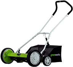 Greenworks 25072 20-Inch 5-Blade Push Reel Lawn Mower with Grass Catcher