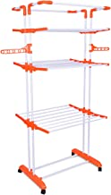 Bathla Mobidry Giga - Extra-Large 4 Level Modular Cloth Drying Stand with Weather Resistant Frame (Orange)