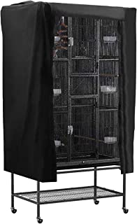 POPETPOP Universal Bird Parrot Cage Cover Washable Good Night Birdcage Cover (Black)