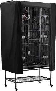 POPETPOP Jaula Cubre un paño Que sombrea el Accesorio Transpirable a Prueba de Polvo del ayudante del sueño para el pájaro del Animal doméstico (Negro)