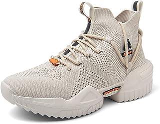 Ahico Men Walking Shoes Fashion Trainers Running Athletic Non Slip Platform Socks Shoe Stylish Casual Fitness Comfortable ...