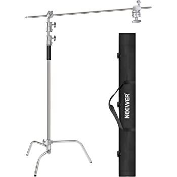 Neewer 10 Feet/3 Meters C-Stand Light Stand with 4 Feet/1.2 Meters Extension Boom Arm, 2 Pieces Grip Head and Carry Bag for Photography Studio Video Reflector, Umbrella, Monolight, etc (Basic Version)