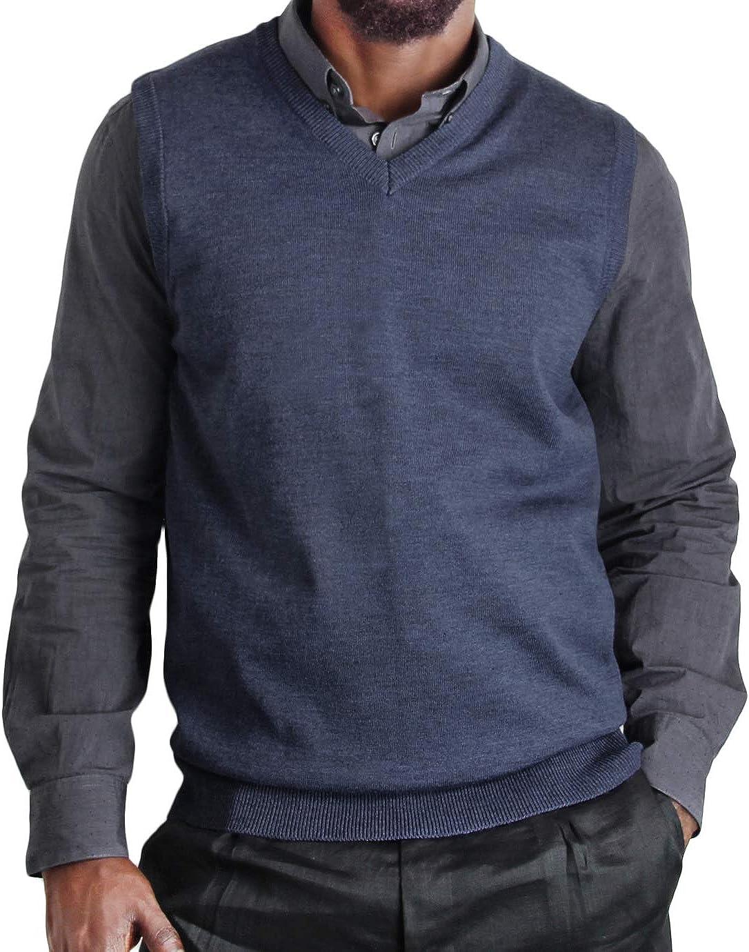 Blue Ocean Big Men Heather Sweater Vest-4X-Large