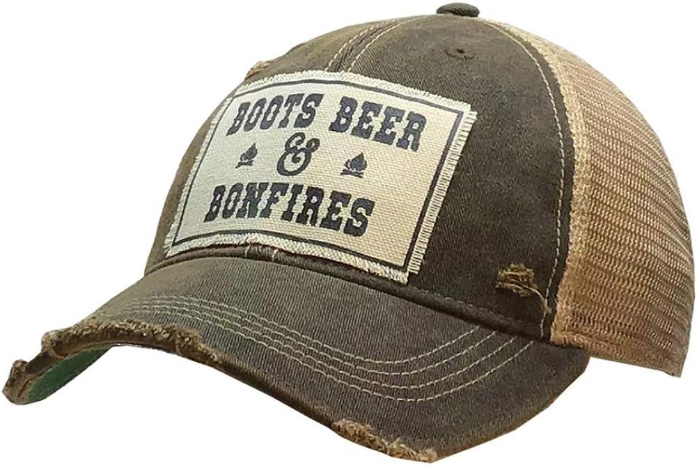 VINTAGE LIFE Women's Distressed Funny Sayings Trucker Baseball Hats