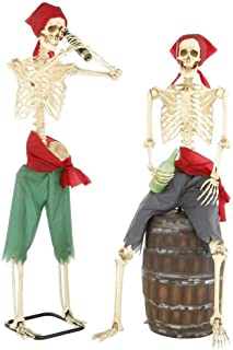 Home Accents Holiday Skeleton Pirates 60 in. LED Eyes Light Moving Mouth 2-Set