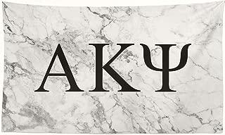 Pro-Graphx Alpha Kappa Psi Greek Sorority Flag Display Banner Sign Décor - 3' x 5' - White Marble