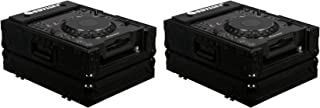 2 Odyssey Black Label FZCDJBL Universal ATA DJ Flight Cases for Large CD Players