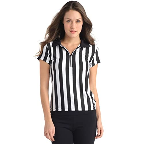 19ca30e3d1b36d Juniors Referee Shirt for Sports Bars with Collar   Zip Front - Juniors  Sizes
