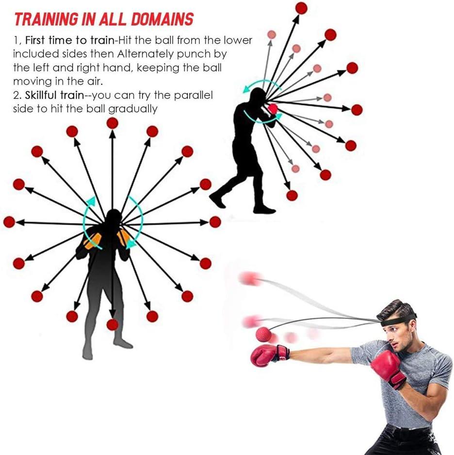 yinyinpu Reflexball Boxing Reflex Ball Punchball Erwachsene Punch Ball Stirnband Boxen Zubeh/ör Kampf Ball Reflex Boxen Boxen Stirnband Ball