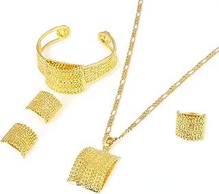 Ethiopian Jewelry Sets Gold Color Africa Bride Wedding Habesha Eritrea Gift