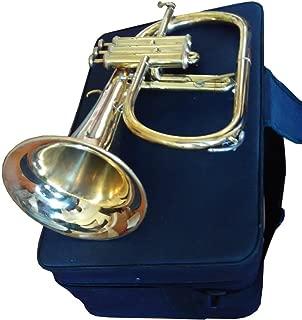 Great Value 3-Valve Bb Natural Brass Flugel Horn Flugelhorn with Designer Hardcase