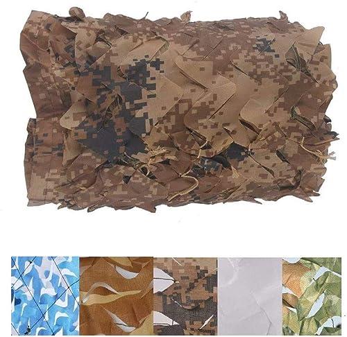 Filet de camouflage bache 2 x 3 m Filet de camouflage pour enfants, camping, désert militaire, chasse, observation d'oiseaux, décoration de fête, marron en plein air, camping, toit, 48M(13.126.2ft)