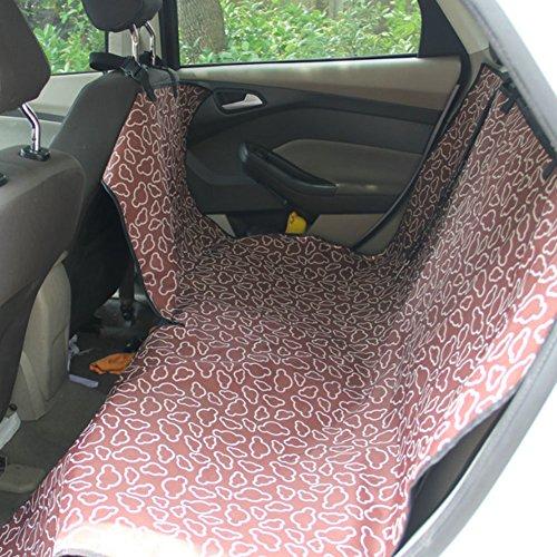 Seat étanche Car Cover Pet Dog Mat Voyage pour Rear Seat, café Cloud (Simple)