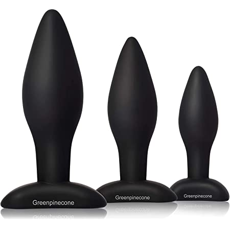 Greenpinecone アナルプラグ アナル拡張開発 肛門や前立腺刺激 大人のおもちゃ シ リコーン製 男女兼用 3点セット