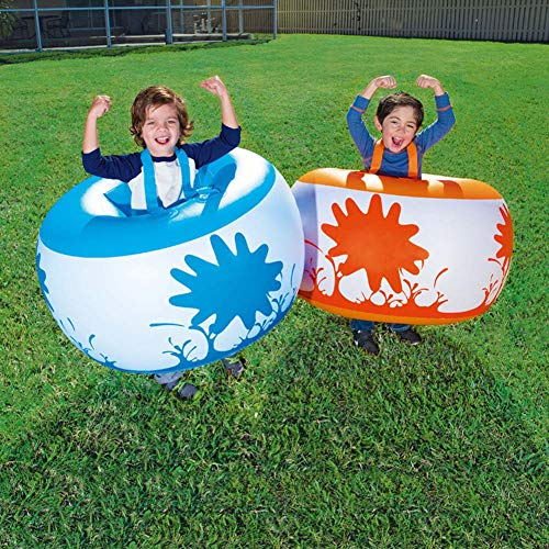 Bubble Ball Pelota de Burbuja, Bola de Parachoques Inflable Bola de Hámster Humano Fútbol de la Burbuja Juego Futbol Resistente PVC Big Ball Football Soccer Juego Deporte, 90cm, 2 Piezas