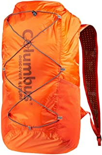Mochila Estanca, Plegable y Ultraligera Ideal para Senderismo, Trekking u Otras Actividades al Aire Libre o Acuaticas. Capacidad 20 L. Color Naranja.