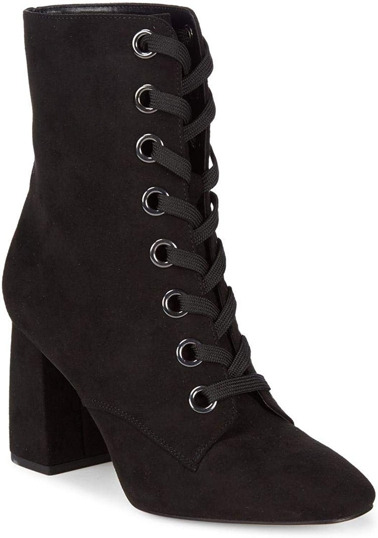 BCBGeneration Womens Alexa Velvet Fabric Closed Toe Ankle Fashion Boots