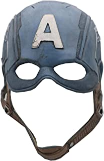 Máscara Capitán América para Adultos Halloween Mask Los Vengadores Ropa Accesorios Disfraz Cosplay Costume Latex
