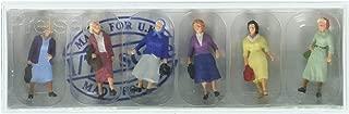 Preiser 73012 Female Commuters Package(6) 1/76 Model Figure