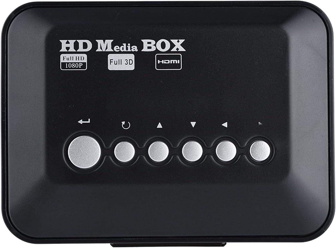 Socobeta Audio Video Player, Media Player Digital HDMI1.3 Interface Audio Video Media Player Box Memory Card for MKV/RM for Cards(U.S. regulations, Transl)